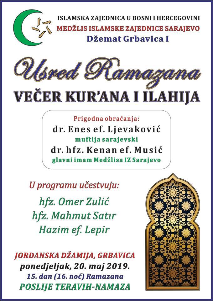 Večer Kur'ana i ilahija