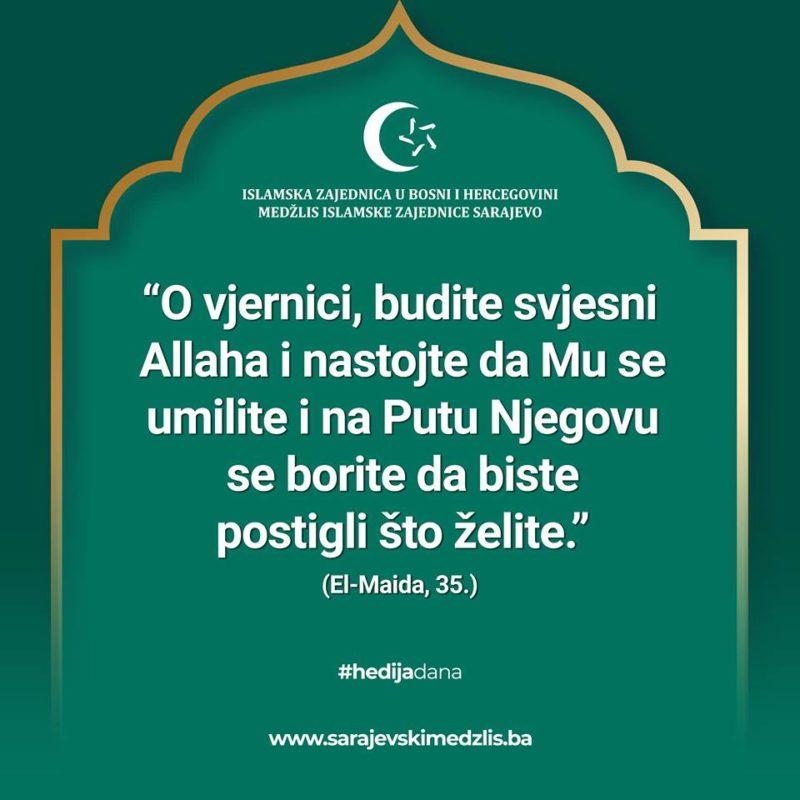 Hedija dana 110 – Medžlis Islamske zajednice Sarajevo