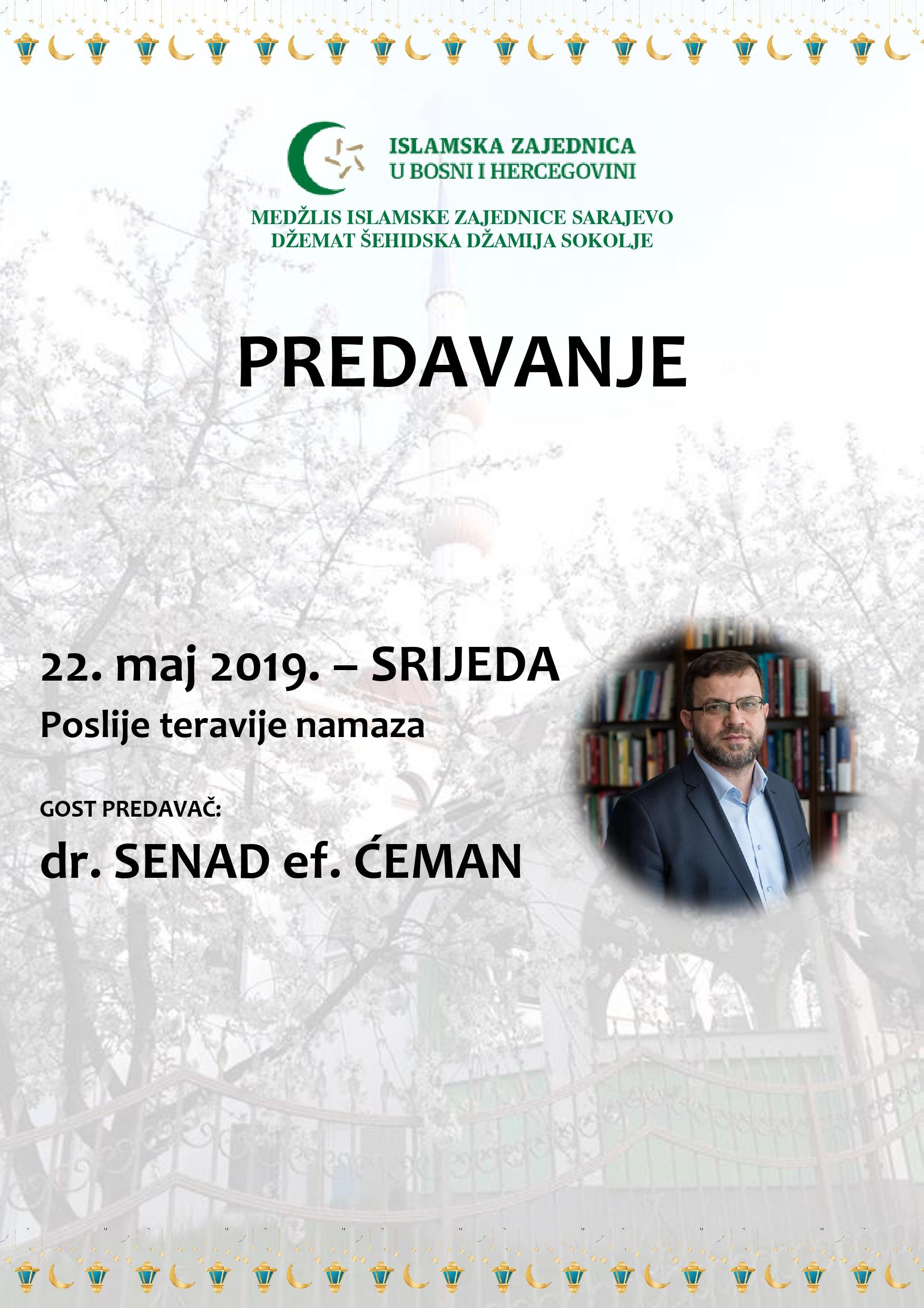 Predavanje dr. Senada Ćemana