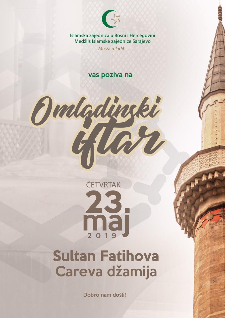 Omladinski iftar u Carevoj - Sultan Fatihovoj džamiji
