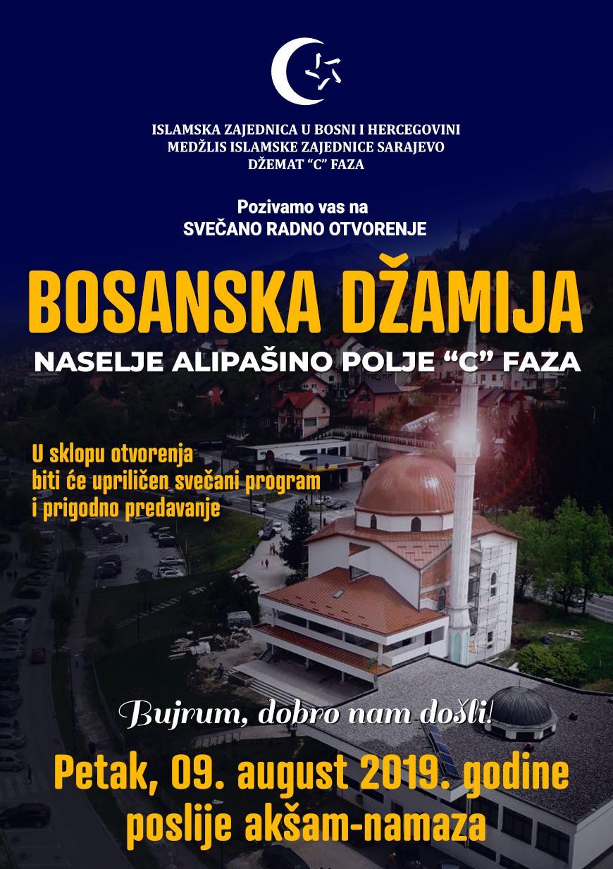 Radno otvorenje Bosanske džamije