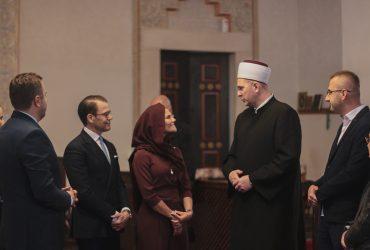 Glavni imam doc. dr. hafiz Kenan Musić švedskoj princezi Victoriji i princu Danielu predstavio vjerski život u Gazi Husrev-begovoj džamiji i gradu Sarajevu
