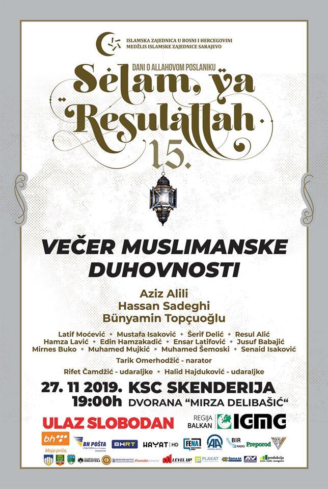Večer muslimanske duhovnosti