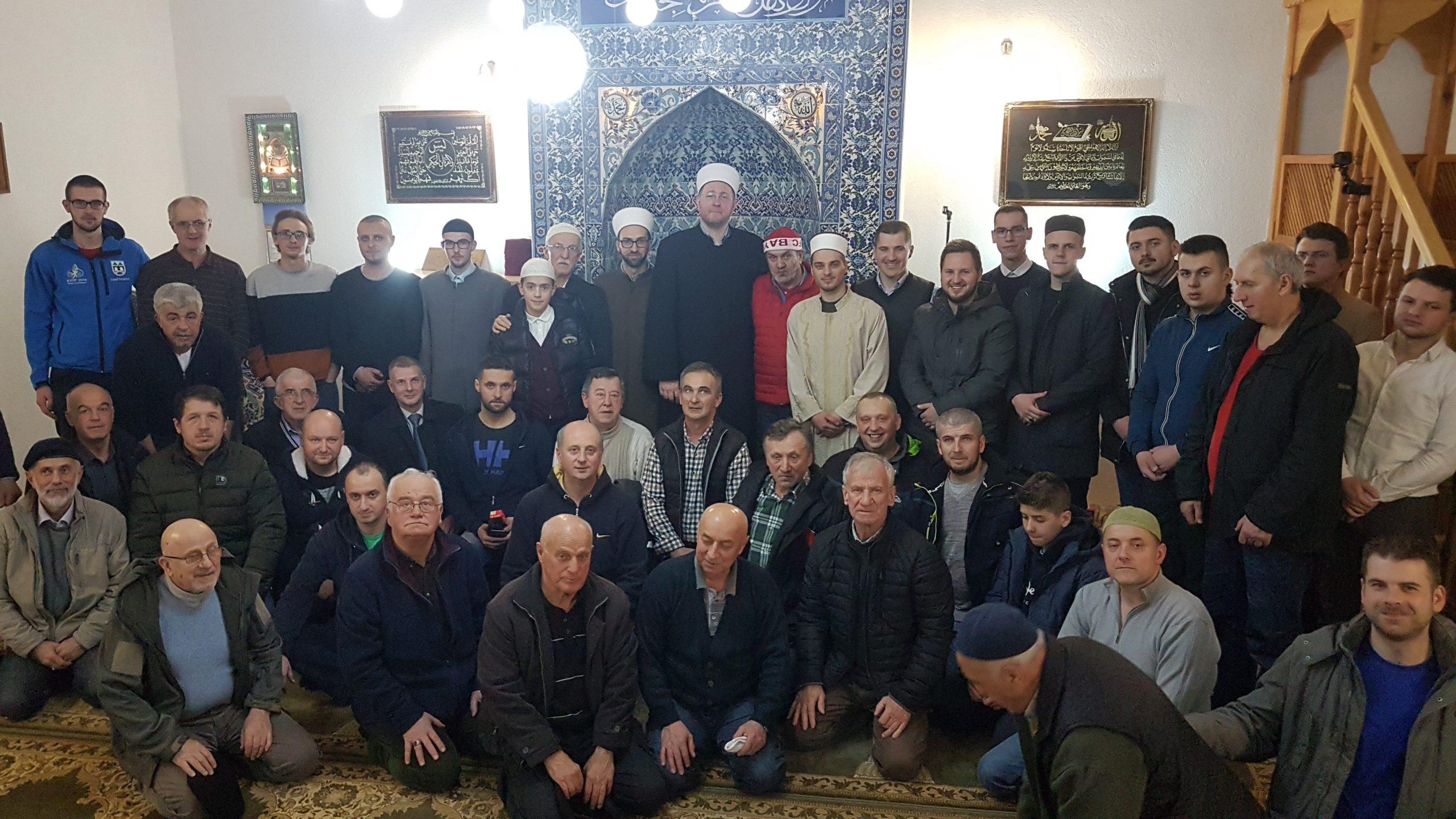 Zajednička jacija u džamiji u Žagrićima: Posjeta glavnog imama rejonu Širokača