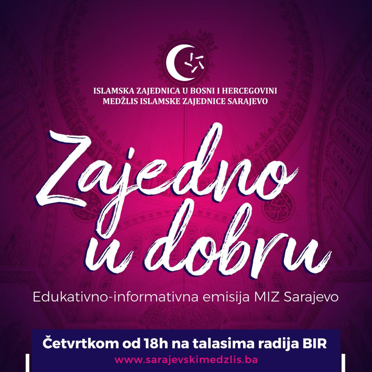 """63. ZAJEDNO U DOBRU: """"Aktivnosti Sektora za brak, porodicu i ženski aktivizam MIZ Sarajevo"""""""