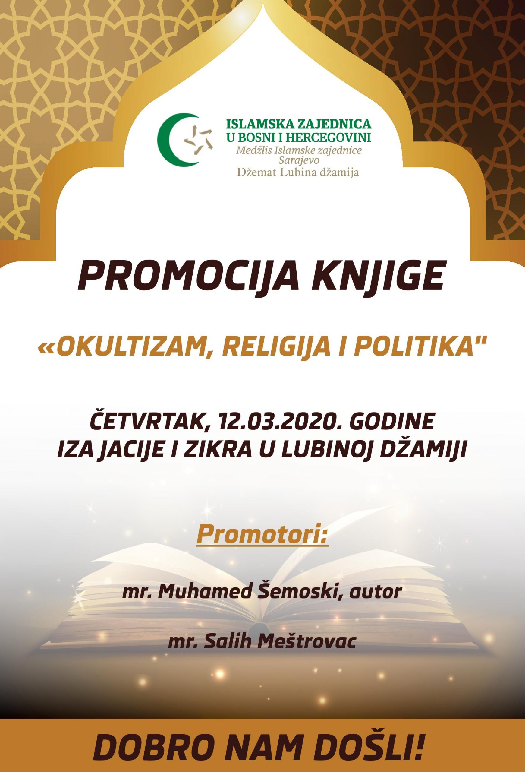 Promocija knjige autora mr. Muhameda Šemoskog