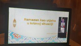 """Online druženje i razgovor na temu """"Ramazan kao utjeha u kriznoj situaciji"""""""