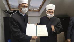 Muftija sarajevski uručio dekret novom glavnom imamu Medžlisa IZ Sarajevo