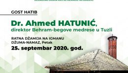 Ratna džamija na Igmanu: Gost hatib dr. Ahmed-ef. Hatunić, direktor Behram-begove medrese u Tuzli