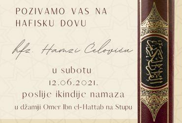 Hafiska dova hafizu Hamzi Ćeloviću