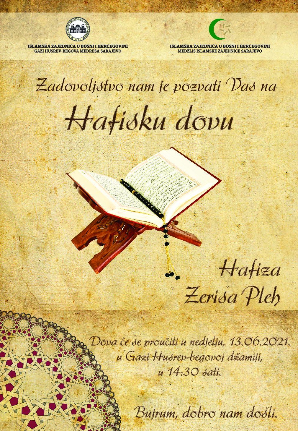 Hafiska dova hafizi Zerisi Pleh