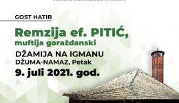 Džamija na Igmanu: Gost hatib Remzija-ef. Pitić, muftija goraždanski